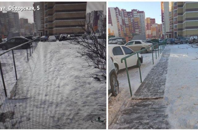 Тюменцы жалуются на гололед и качество уборки снега во дворах