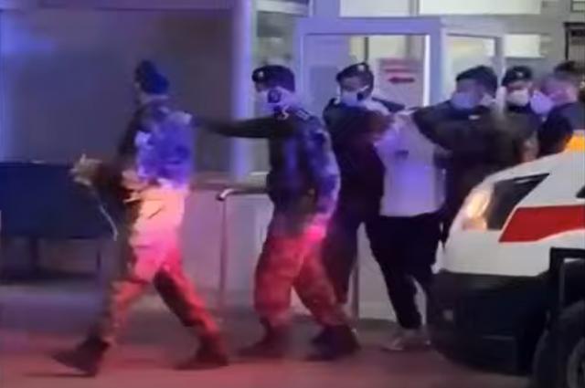 Стоп-кадр видео задержания.