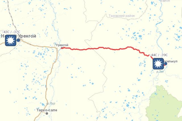 Закрыто движение по ямальскому зимнику Коротчаево – Красноселькуп