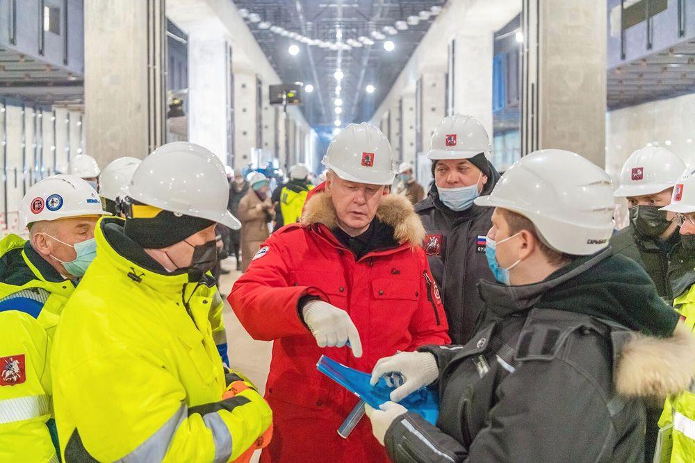 Сергей Собянин осмотрел ход строительства станции «Воронцовская» БКЛ
