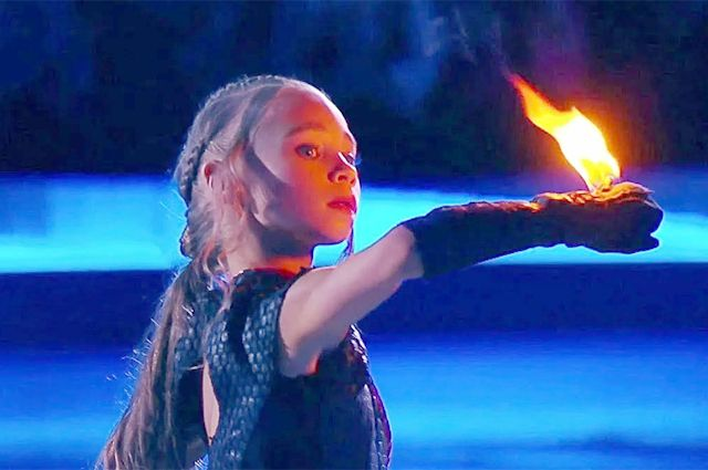 Вероника Жилина на шоу «Ледниковый период. Дети» в образе Дейнерис.