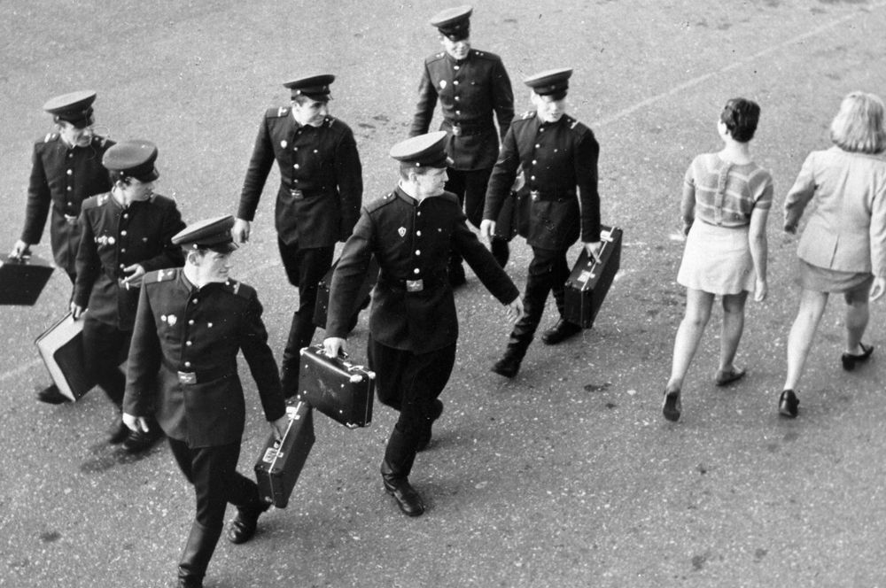 Уволенные в запас солдаты, 1965 г.