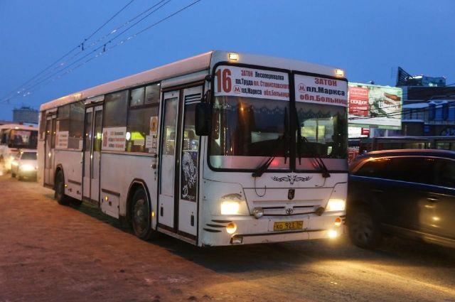 В выходные автобусы пойдут по графику воскресенья