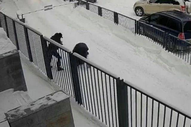 Двое мужчин повалили прохожего на снег, избили и отобрали у него пакет, в котором находилось не меньше 15 млн рублей