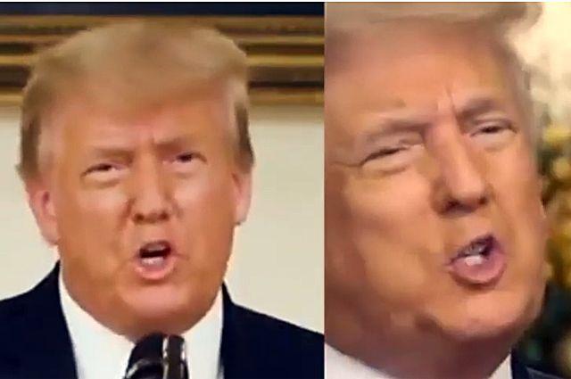 Трамп фейковый и Трамп настоящий.
