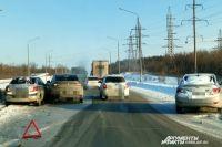 В Оренбурге на Загородном шоссе произошло несколько автомобильных аварий.