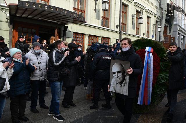 Прощание с народным артистом РСФСР Андреем Мягковым