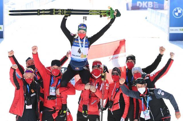 Лиза Тереза Хаузер (Австрия), завоевавшая золотую медаль в масс-старте среди женщин на чемпионате мира по биатлону