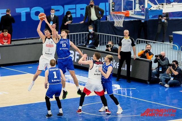 21 февраля в Перми прошёл баскетбольный матч третьего отборочного тура Евробаскета-2022.