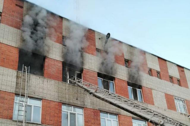 30 человек тушили пожар в санатории «Надежда» под Пензой