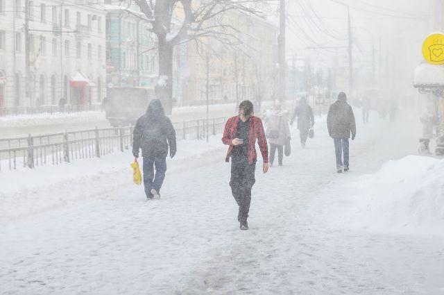 Сильный снег прогнозируется в Псковской области