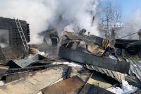 В Новосибирске на улице Ольховская произошел пожар в частном жилом доме.