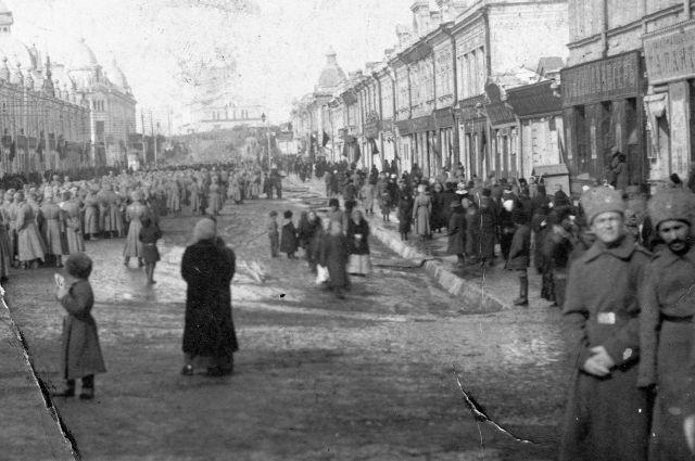 Омск в 1917 году.