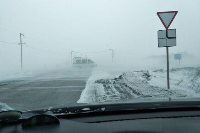 На одной из дорог в Сибае.