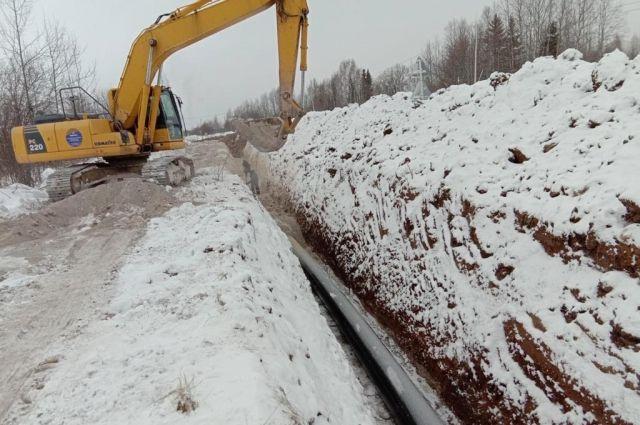 Работы по реконструкции системы водоснабжения в Лысьве идут с опережением графика.