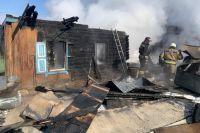 23 февраля в Кировском районе Новосибирска сгорел частный жилой дом.