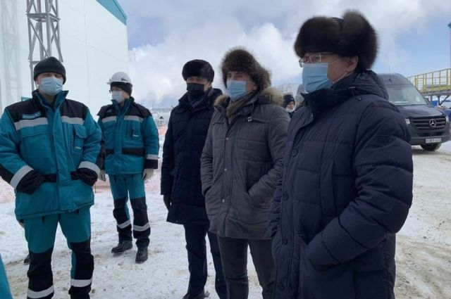 Владимир Якушев и Александр Моор посетили стройплощадку проекта МАН