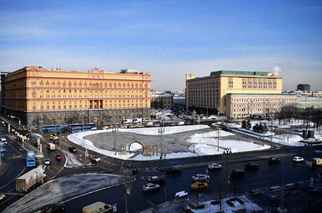 Лубянская площадь в Москве.