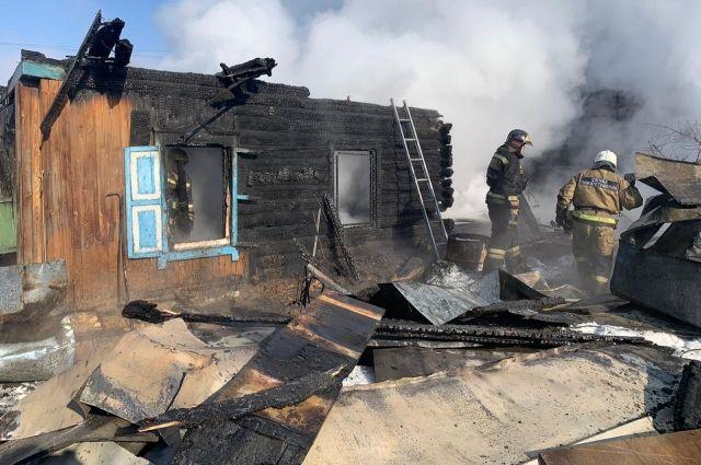 Дом многодетной семьи сгорел 23 февраля.
