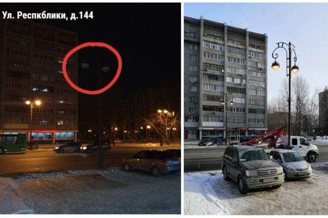 Тюменцы направили почти 100 обращений о неработающим освещении