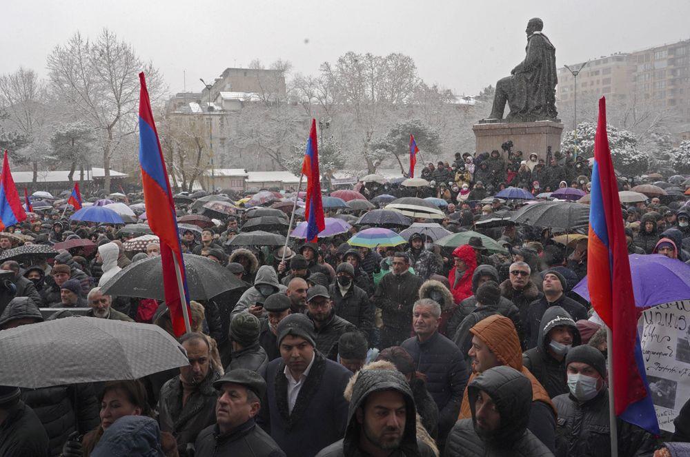 Сторонники армянской оппозиции.