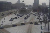 В Новосибирске вновь замечены автозаки в центре города. Сегодня, 27 февраля, спецтехника появилась около Краеведческого музея (Красный проспект, дом №23)