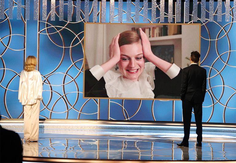 Эмма Коррин получила награду за в номинации «Лучшая женская роль в драматическом телесериале» за роль в сериале «Корона».