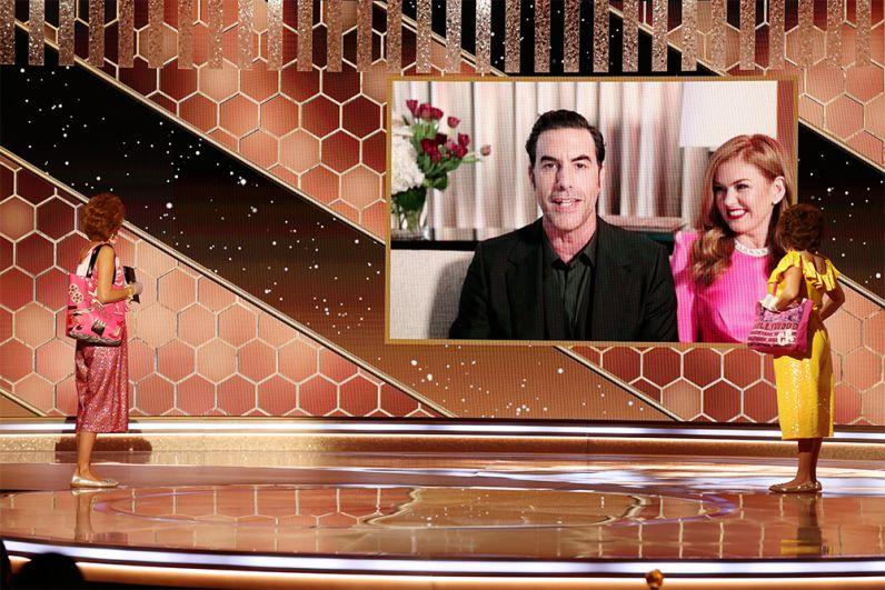 Лучшей комедией «Золотой глобус» назвал «Борат 2» — вторую часть приключений казахского журналиста Бората Согдиева в Америке; сам Борат (альтер-эго комика Саши Барона Коэна) тоже стал лучшим — как комедийный актер.