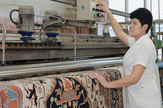 Глубокая обработка ковров ведется по испанской технологии.