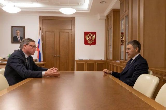 Омский губернатор встретился с главой минобрнауки Фальковым в Москве