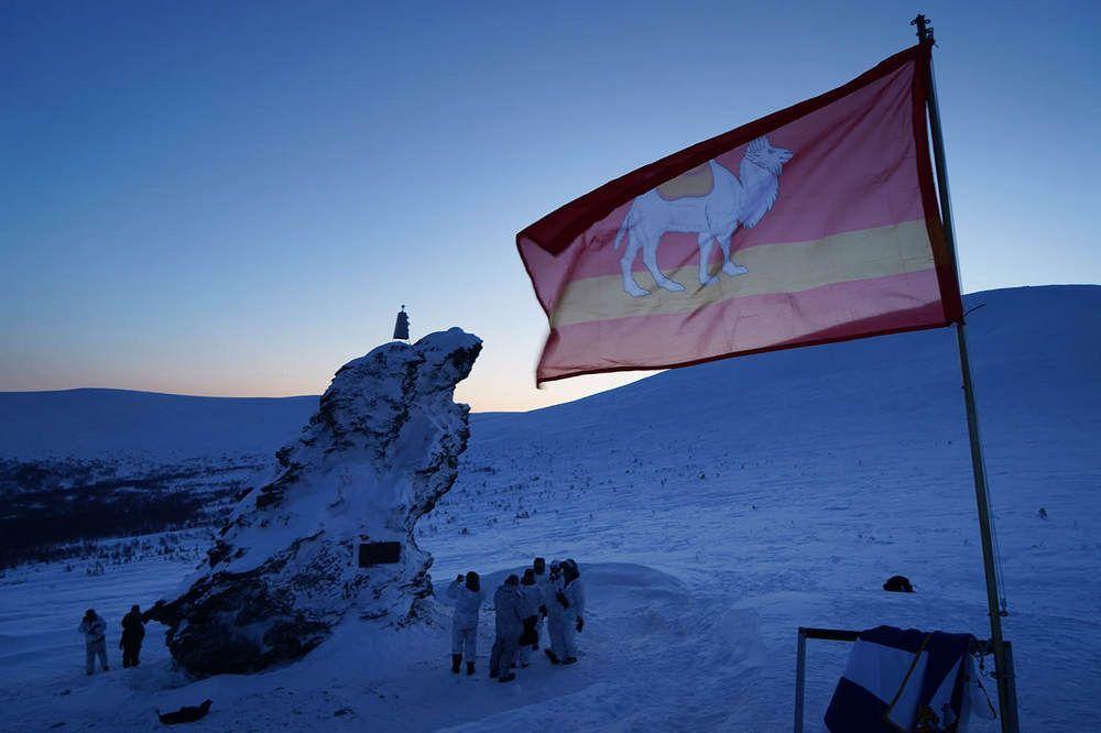 Участники развернули флаг Челябинска