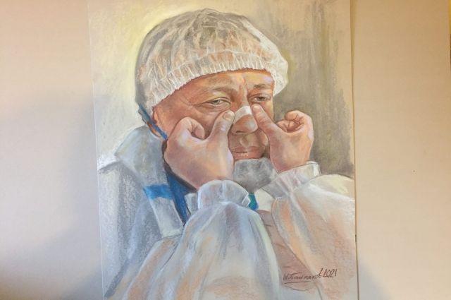 Несколько работ выставки будут посвящены врачам из