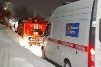 В Бугуруслане «скорую» с пациентом спасли из снежного заноса.