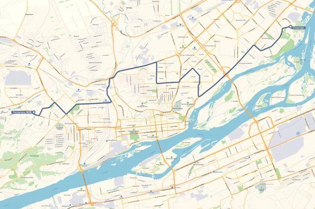 На линию будут выходить 16 автобусов среднего класса вместимости.
