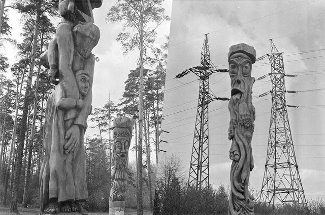 Скульптуры Валерия Гаврилова в парке Лесоводов стали самыми популярными его работами.