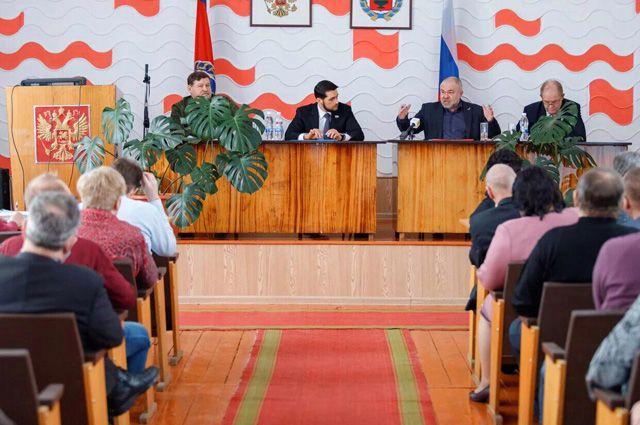Встреча жителей Ельцовского района