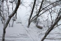 В феврале в городе выпало рекордное количество снега.