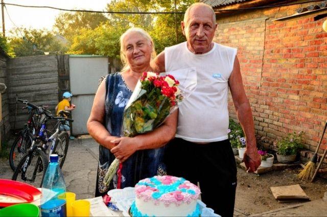 Светлана Щеткина с мужем.