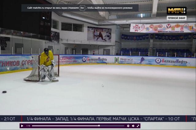 Незрячий мальчик-хоккеист стал героем «Матч ТВ»