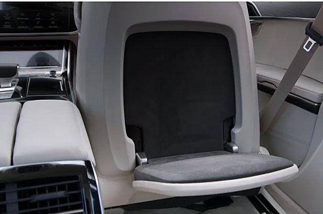 Система массажа ступней на Audi A8.
