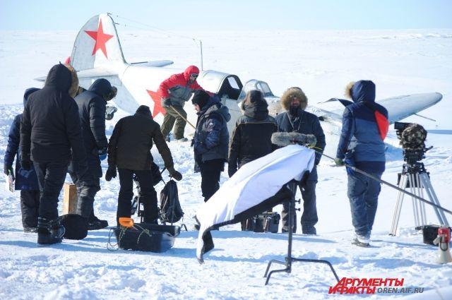 В Оренбуржье снимается кино о легендарной летчице Лидии Литвяк.