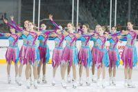 На дне рождения Универсиады красноярские спортсмены исполнили номера из показательных выступлений.