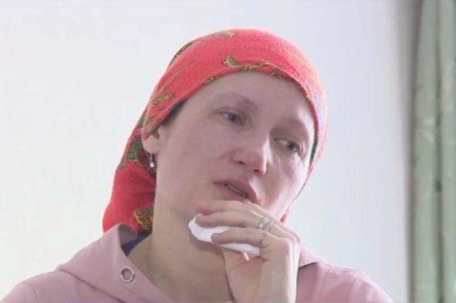 Регина Балашова благодарит за помощь всех неравнодушных. Фото из программы телеканала «Россия-1 – Татарстан («Вести-Татарстан»)