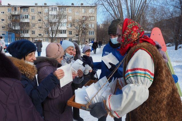 Праздничный экспресс побывал в восьми дворах Мотовилихи.