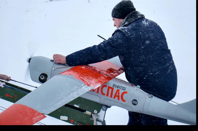На вооружении спасателей три беспилотных летательных аппарата и восемь квадрокоптеров легкого класса