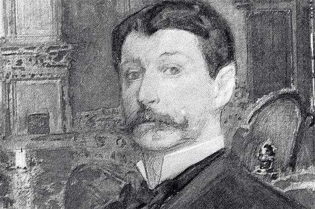 Репродукция картины художника Михаила Врубеля (1856-1910) «Автопортрет».