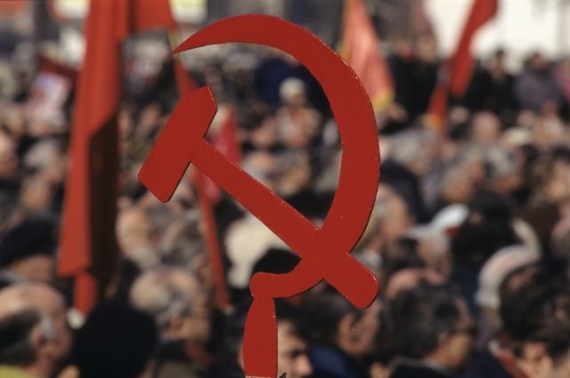 Митинг на Калужской площади в Москве, приуроченный к годовщине Всесоюзного референдума 17 марта 1991 года о сохранении СССР.