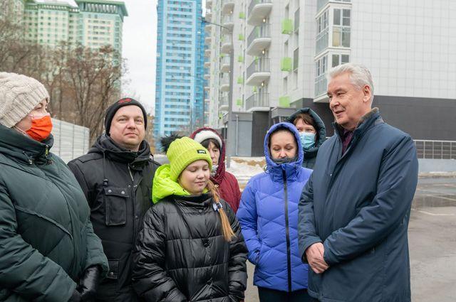 В новый дом на Новощукинской, вл. 8, корп. 1, уже в мае начнут переезжать жители из соседних старых пятиэтажек.