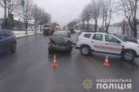 В Тернополе автомобиль с вакцинами от COVID-19 попал в ДТП