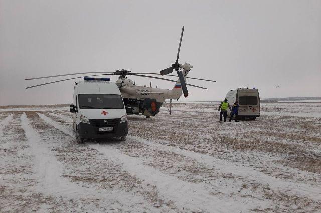 Авиамедицинская бригада госпитализировала мужчину из Пономаревки с ожогами тела.